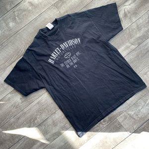 black 2006 harley davidson thunder tower t-shirt